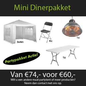 Mini Dinerpakket huren Partytentverhuur Nijmegen