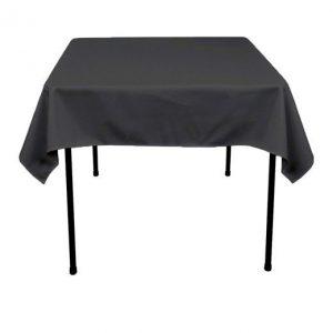 Een antraciet gekleurd tafelkleed