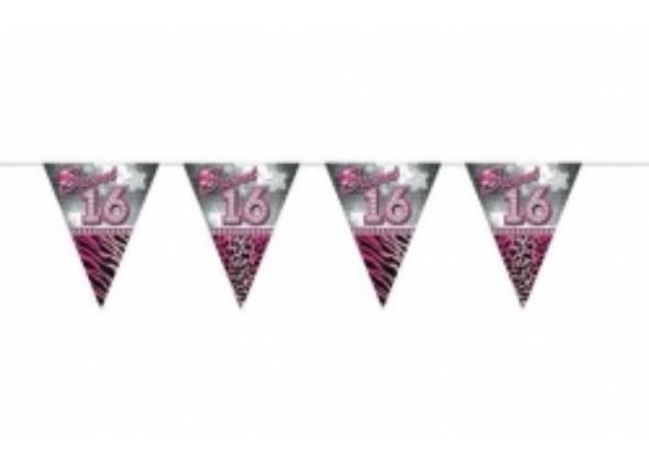 Vlaggenlijn sweet 16 roze - 590x422